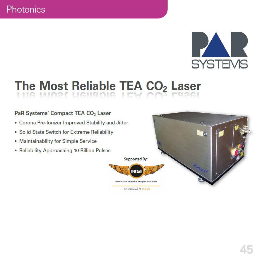 The Most Reliable TEA CO2 Laser